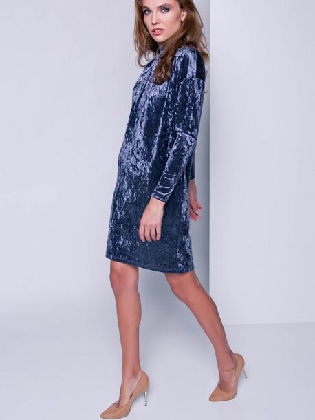 Лейсан велюр платье антрацит