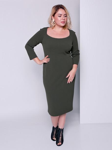 Анабель платье хаки