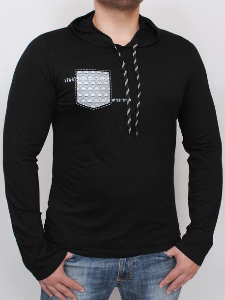 POCKET Long фуболка длинный рукав черный