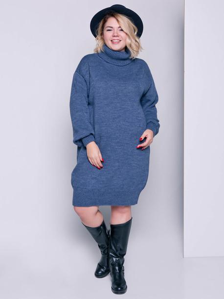 Ларни платье - свитер джинс