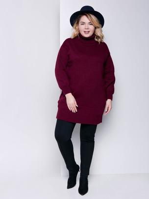 Ларни платье - свитер гранат