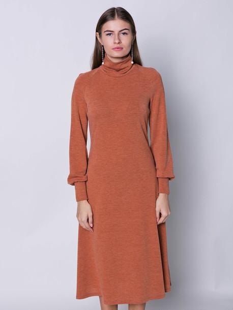 Элис платье охра