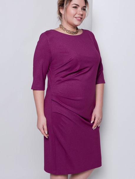 Лэджэр жемчуг TRAND платье маджента