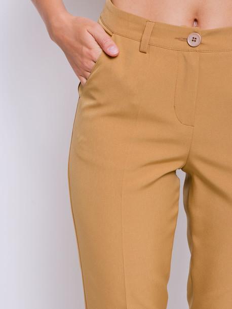 Лу брюки горчица