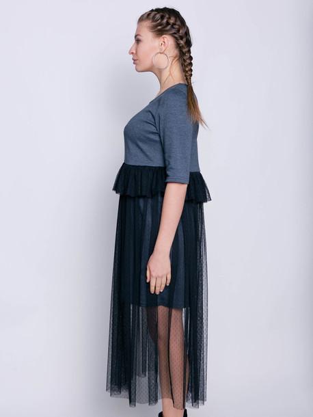 Инель платье графит