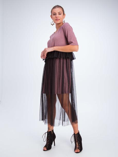 Инель платье марсала