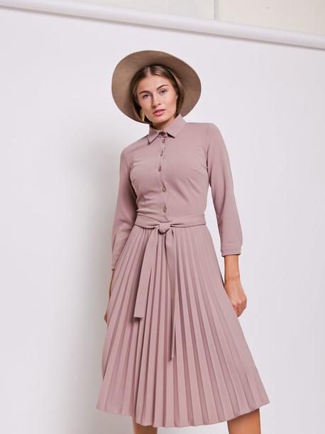 Евгения платье какао