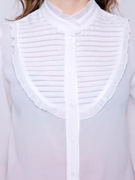 Малена блуза молочный