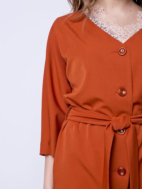 Марита платье охра