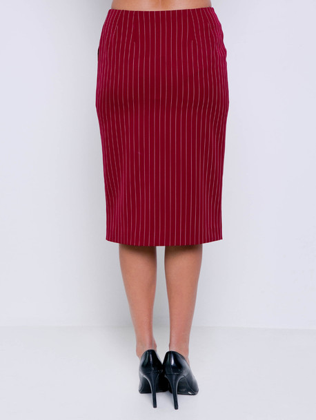 Твилла полоса юбка гранат