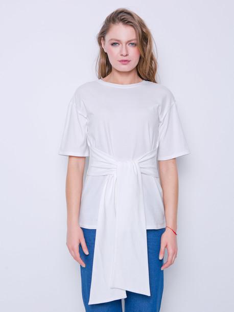 Дженифер футболка молочный