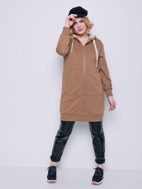 Мауро TRAND платье- худи какао