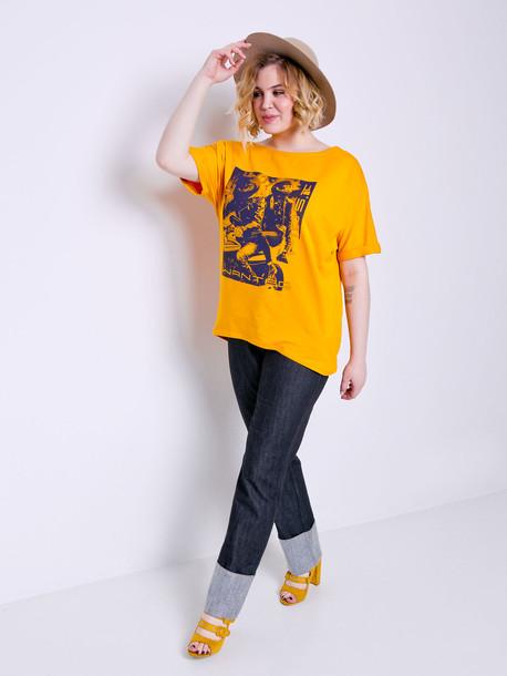 Эмина футболка янтарь