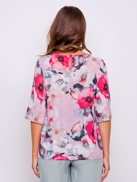 Нани блуза пудра мак