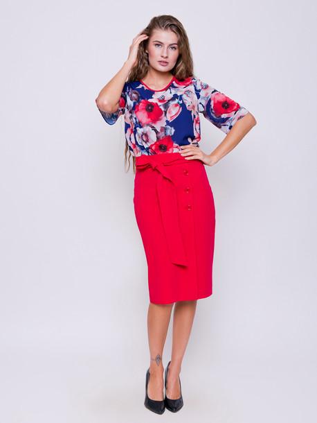 Лиза юбка амарант