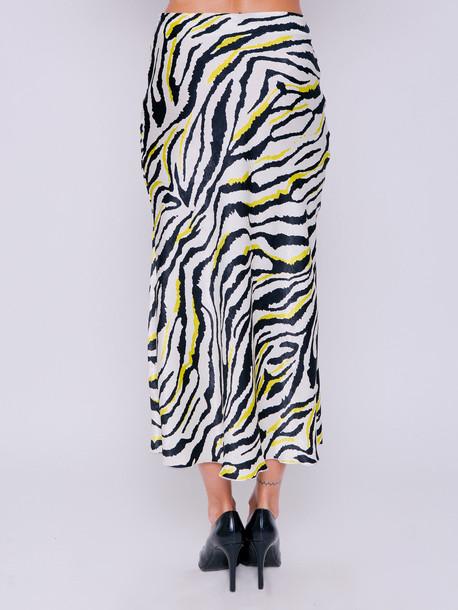 Аргентина принт юбка зебра вердепешевый
