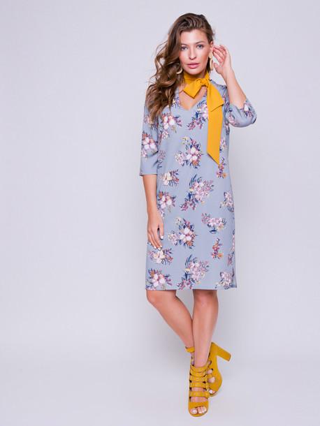 Бетти принт платье ниагара