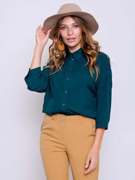 Саломея GRAND блуза изумруд