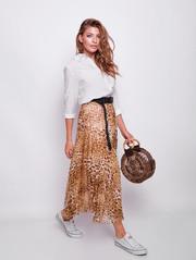 Сенди принт юбка леопард