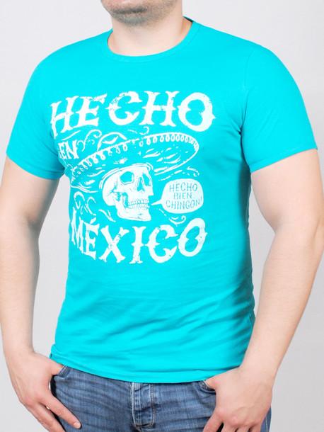 MEXICAN футболка бирюза