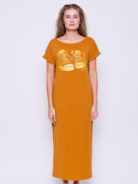 Силика GRAND платье горчица