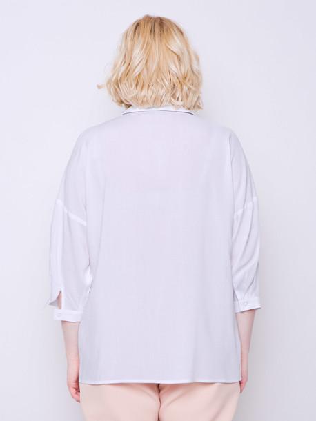 Петти однотон блуза пломбир