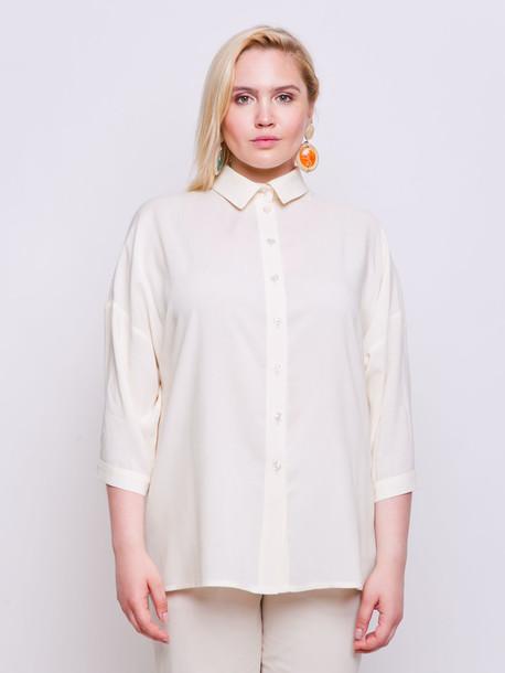Петти однотон блуза ваниль