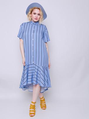 Мэделин принт платье топаз