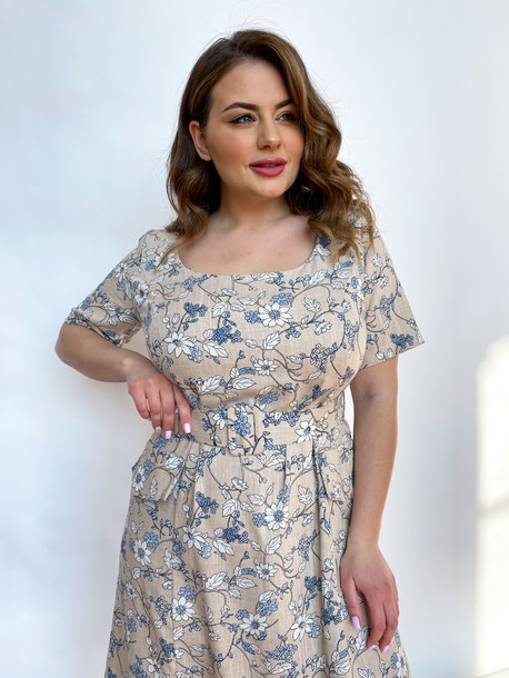 Вайолет платье бежевый