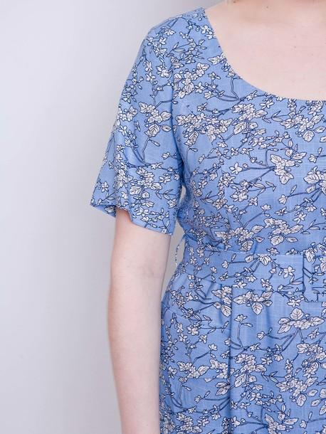 Вайолет платье голубой