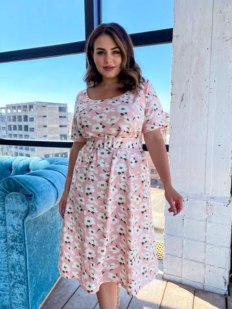 Вайолет платье лососевый