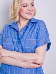 Ивонет принт блуза голубой