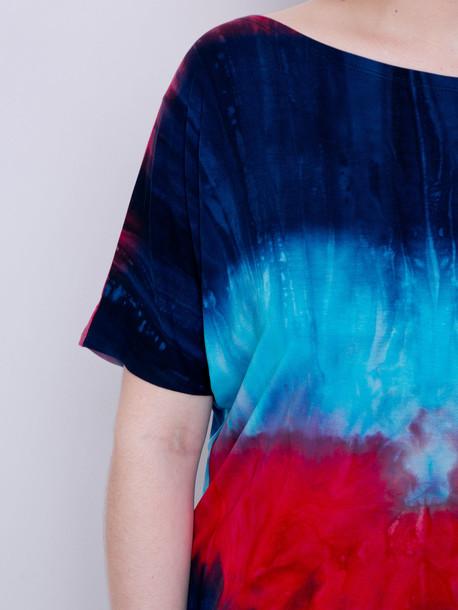 Флосси батик футболка ночь