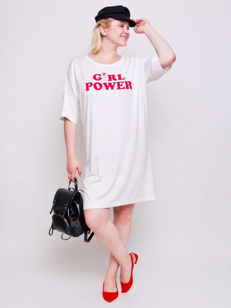 Паллада платье - футболка молоко
