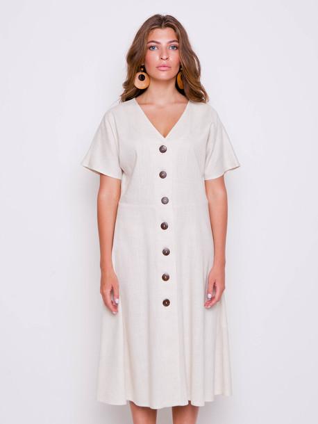 Бали платье ваниль