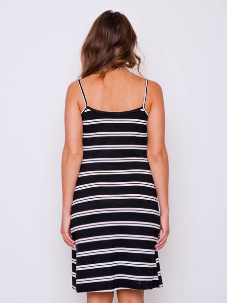 Морячка платье полоса черная двойная