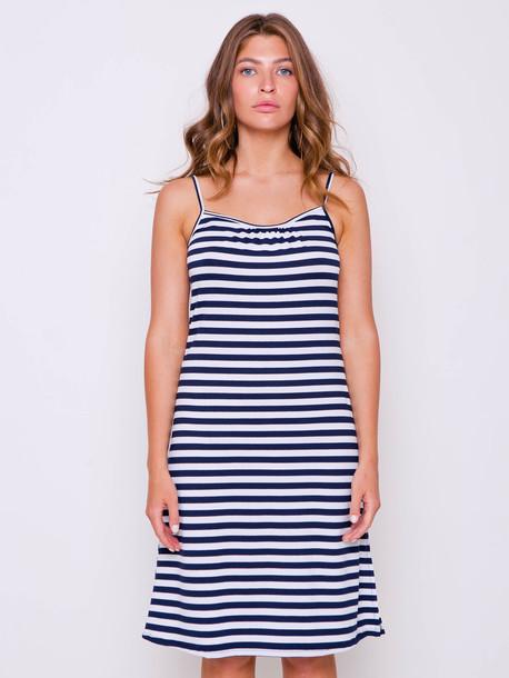 Морячка платье синяя средняя полоса