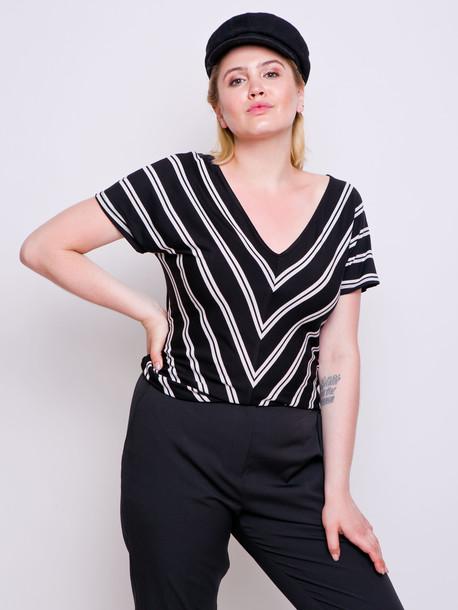 Джули футболка полоса черная двойная