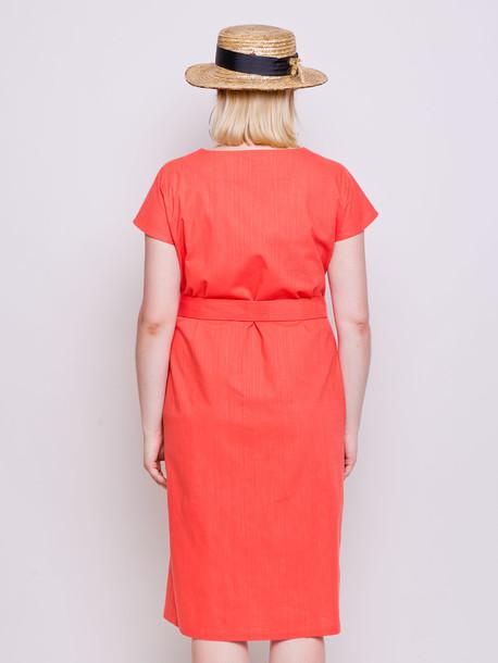 Амбер однотон платье коралл
