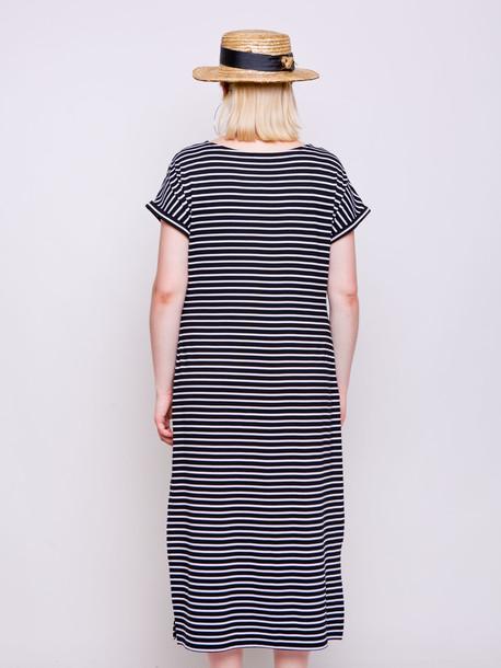 Силика полоса платье черная средняя полоса