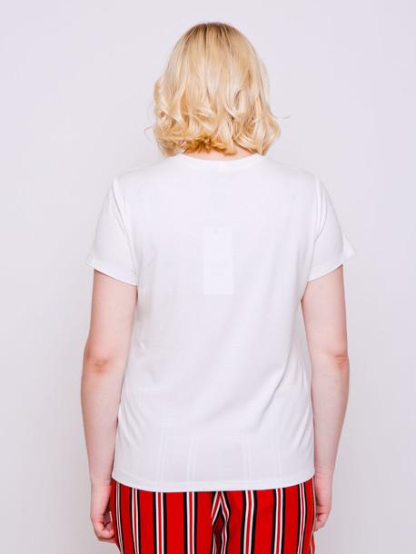 Сотирия принт футболка молоко