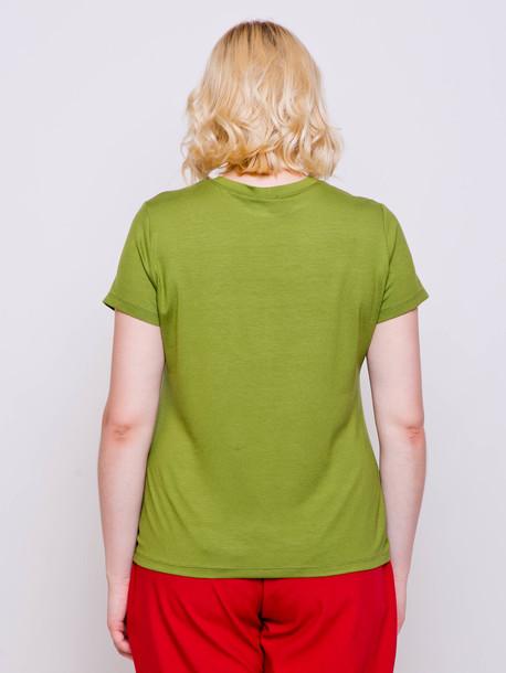 Сотирия принт футболка шпинат