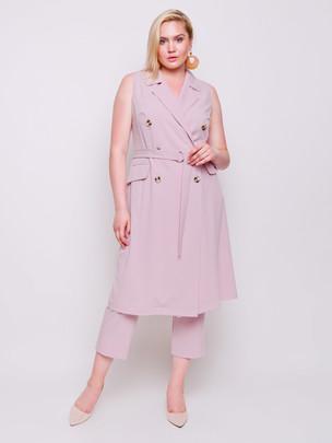 Элфи платье-жилет фламинго