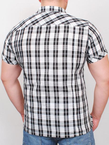 ALABAMA рубашка короткий рукав черная клетка