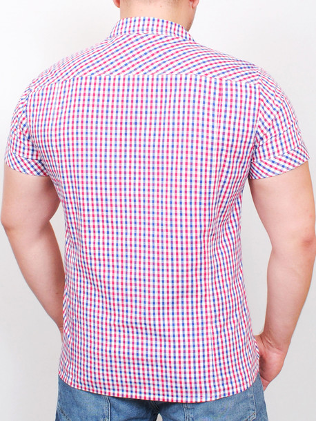 ALABAMA рубашка короткий рукав мелкая клетка