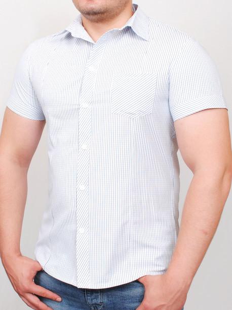 TOSCANA  рубашка короткий рукав мелкая клетка