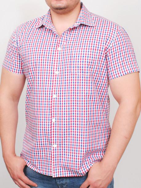 BIRMINGHAM  рубашка короткий рукав мелкая клетка