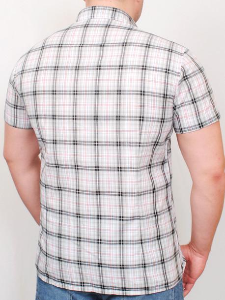 BIRMINGHAM  рубашка короткий рукав серая клетка