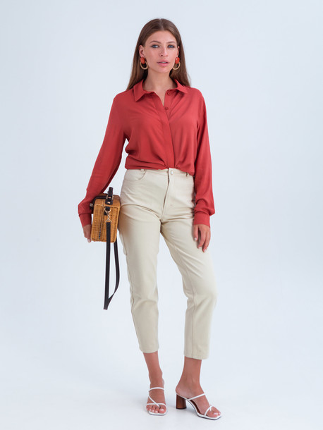 Лина блуза чили