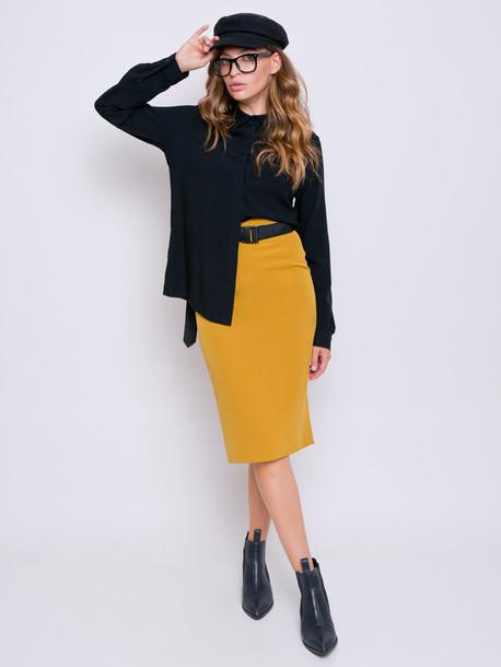 Лина блуза оникс